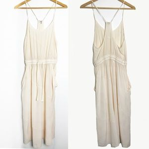 Aritzia | Wilfred Cream Silk Maxi Dress